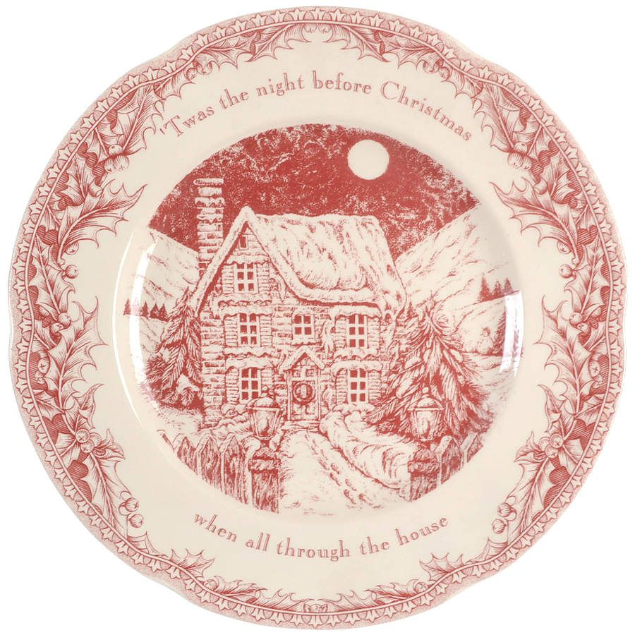 Twas The Night Before Christmas 12 Bless This House Platter By Noble Excellence Replacement Christmas China Patterns Christmas China Christmas Dinner Plates