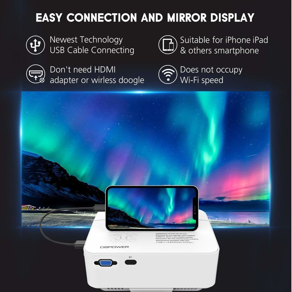 Details about Home Theater Projector USB Directly Connect With iOS ...