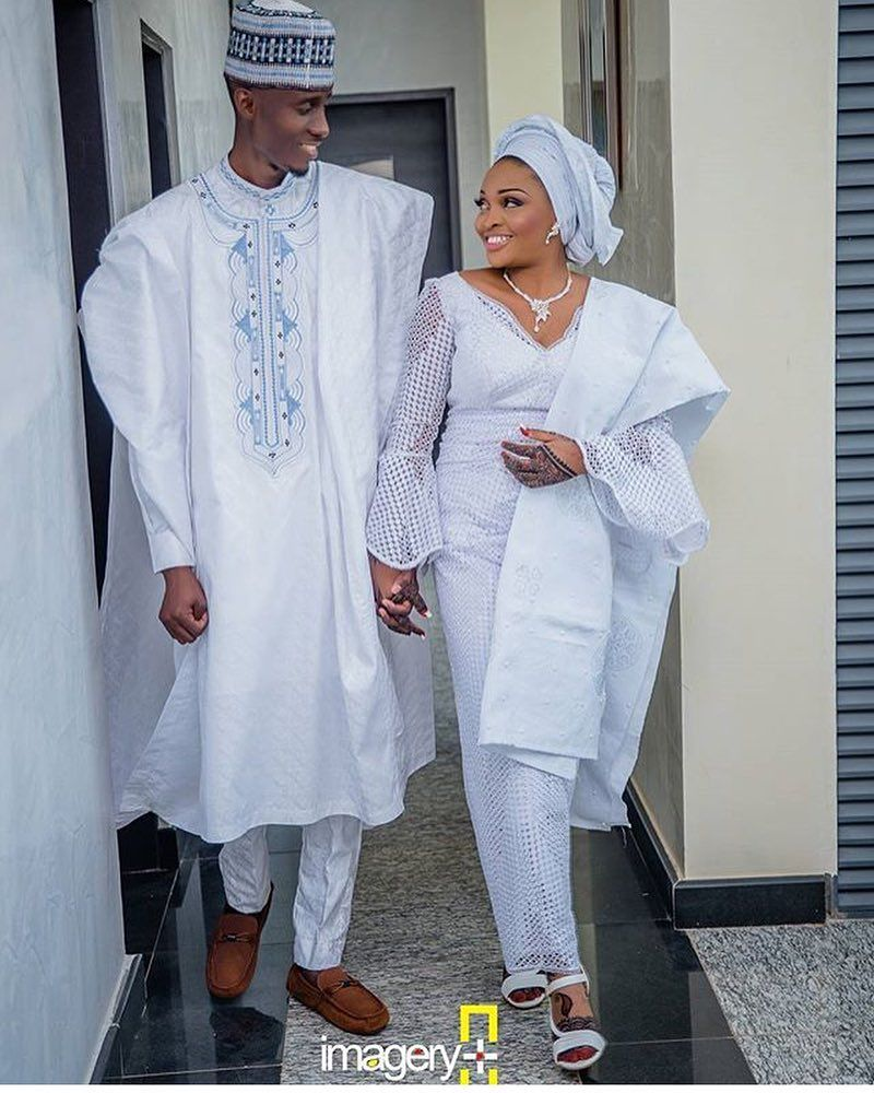 Traditional Nigerian Wedding Gifts: Happy Couple #asoebi #asoebispecial #speciallovers #makeup