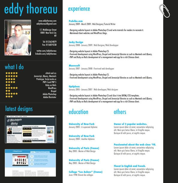 9 helpful resume design tutorials to learn design web photoshop