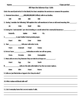18 Best Images of Bill Nye Worksheets Answer Sheets - Bill
