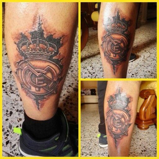 Real madrid tatoo tattoo realmadrid escudo tatuaje for Real madrid tattoos