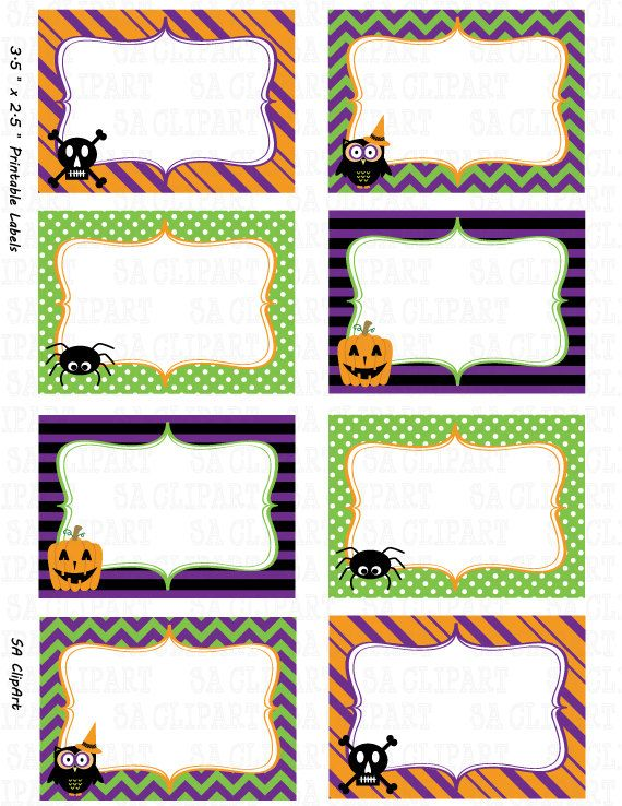 picture about Printable Halloween Gift Tags identified as Halloween Printable labels Fastened \