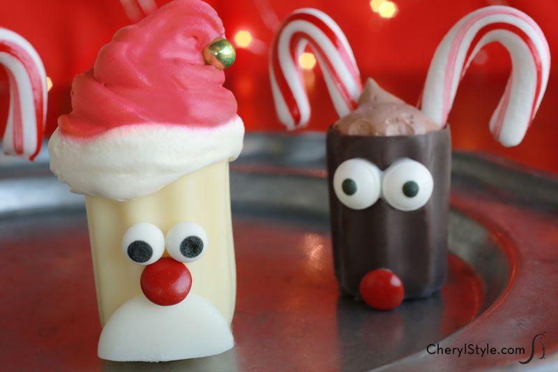 No Bake Mini Santa Desserts Recipe