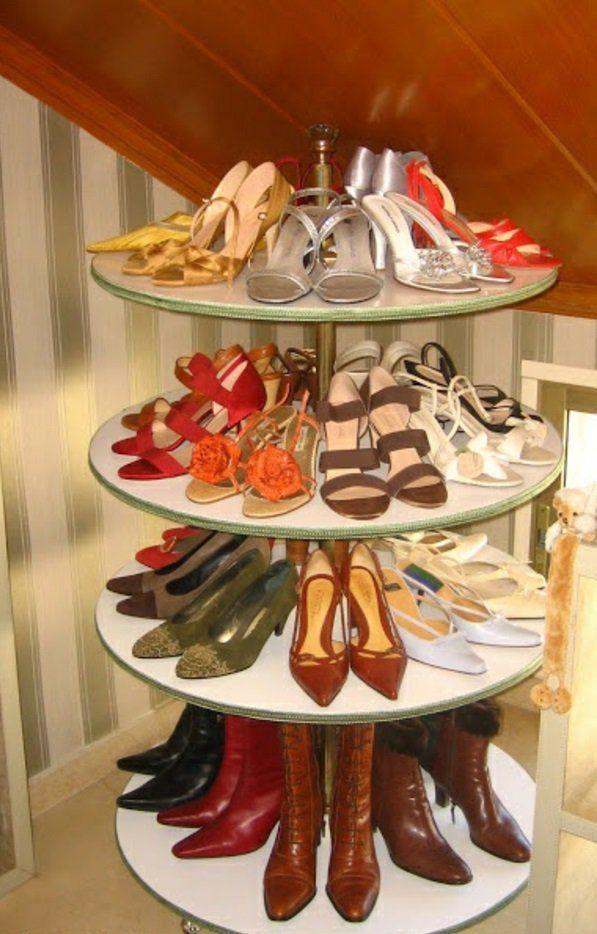 Ausgefallenes schuhregal selber bauen  Schuhregal damen drehen ausstellen selber bauen | Schöne Dinge ...