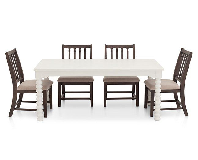 Magnolia Home Spool Leg 5 Pc Dining Group 1 545 Luxury