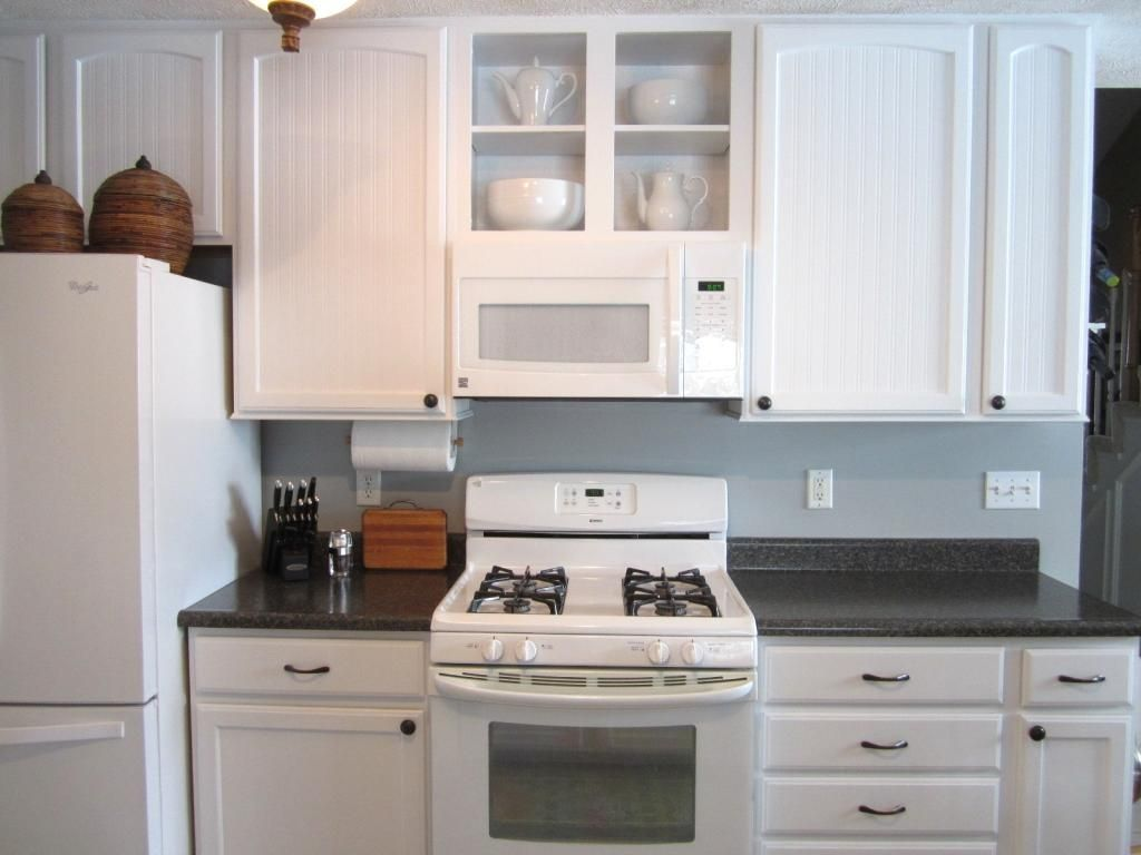 Don T Be Afraid Of Matching Whites In A Mostly White Kitchen Here S How White Kitchen Appliances White Kitchen Inexpensive Kitchen Remodel