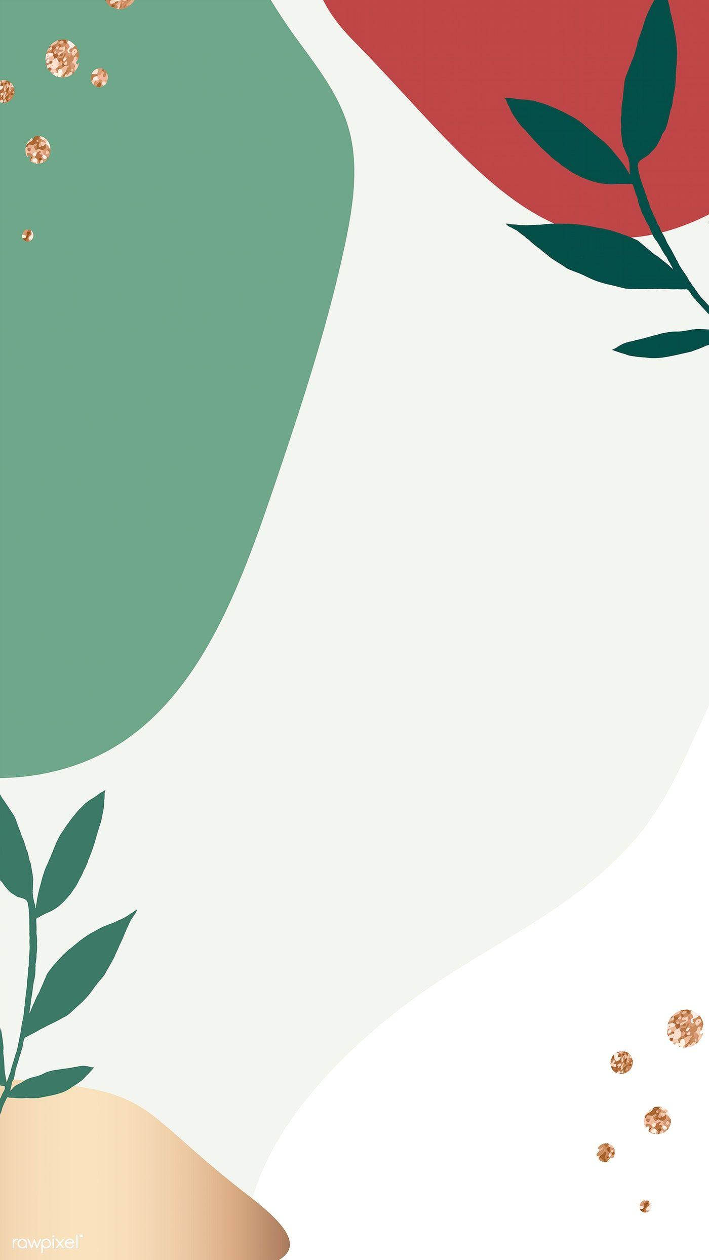 Download premium vector of Colorful Memphis mobile phone wallpaper vector