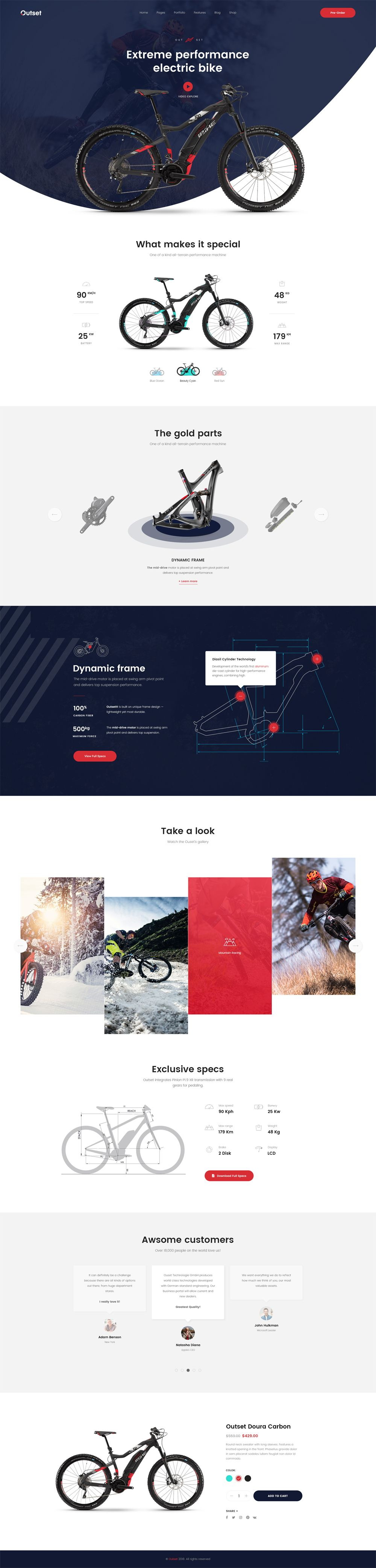 The Outset Multipurpose Psd Template For Saas Startup Web Layout Design Web Design Web Design Projects