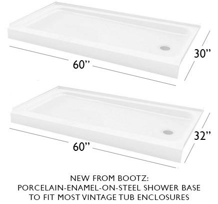 Two Affordable Porcelain Finish On Steel Shower Bases From Bootz