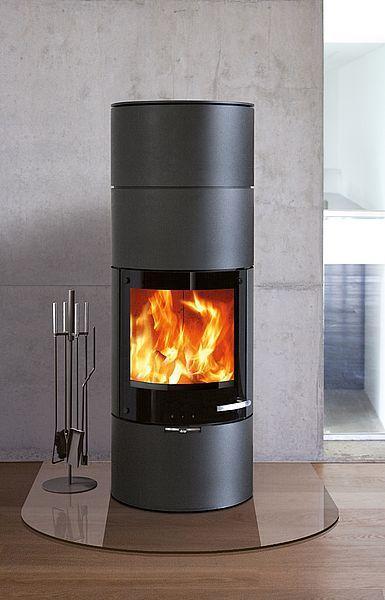 kaminofen milano mit cortenstahl verkleidung 6kw von. Black Bedroom Furniture Sets. Home Design Ideas