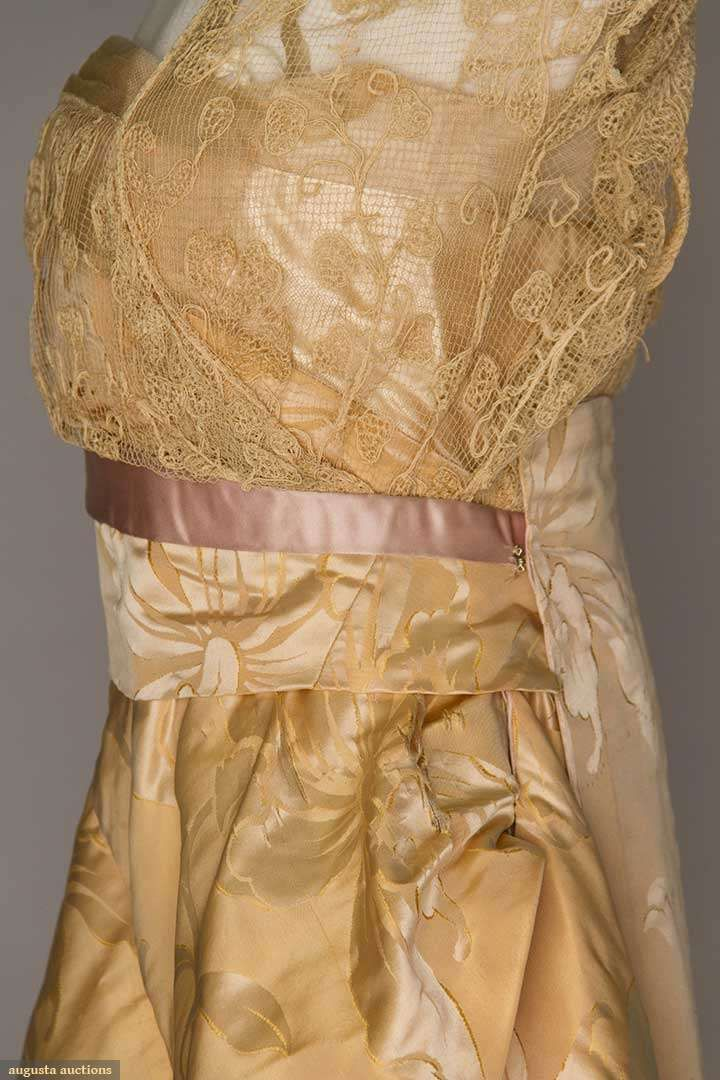 Evening Gowns (image 4) | 1912 | silk, lace | Augusta Auctions | May 10, 2016/Lot 1019