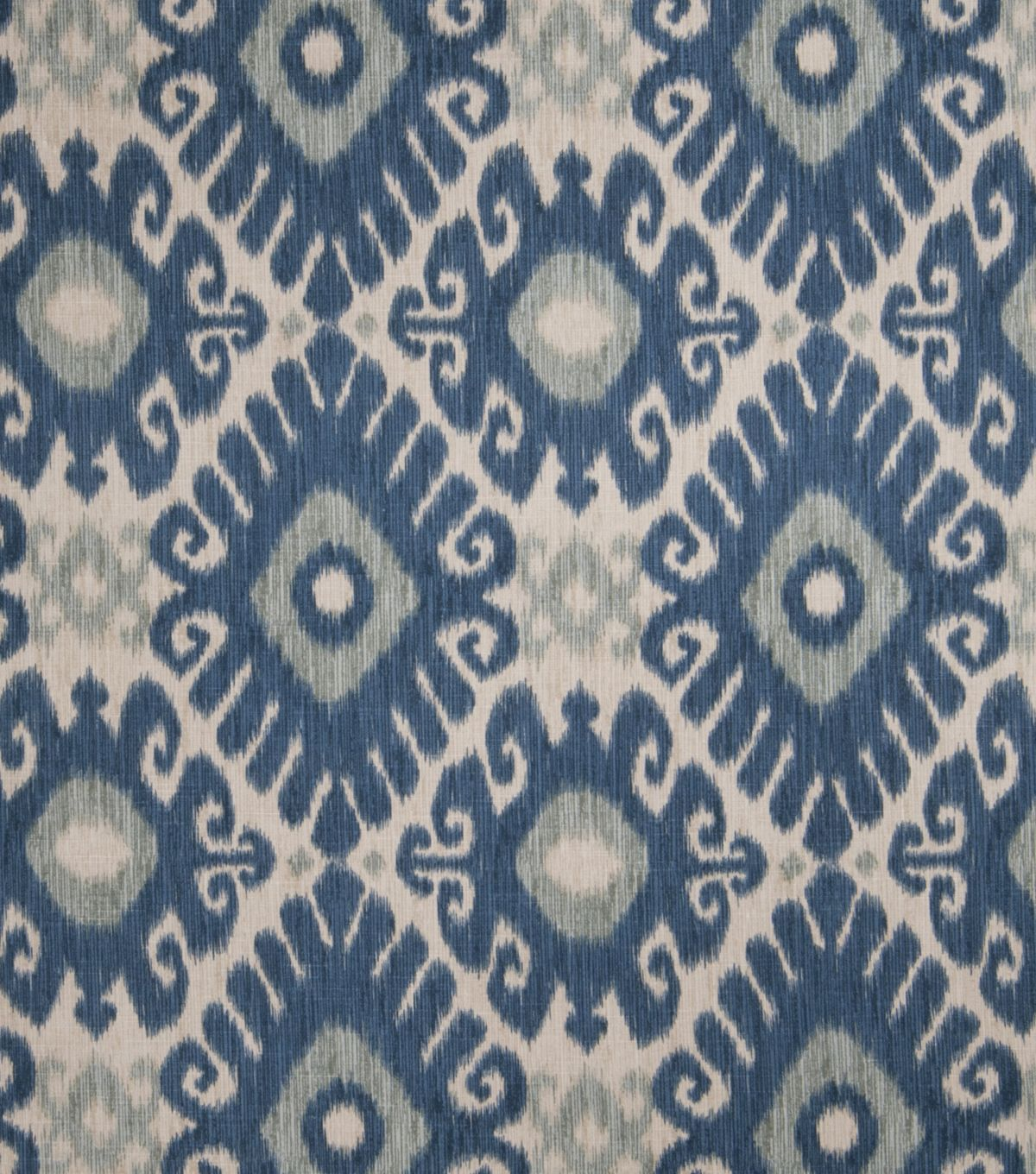 Jaclyn Smith Upholstery Fabric Ikat Rot Indigo