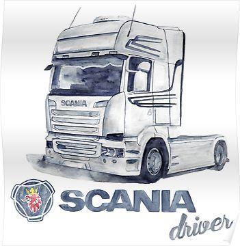Scania Poster Aufkleber Lkw Bilder