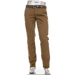 Photo of Alberto Men's Chinos Lou Trousers, Regular Slim Fit, T400 Cotton, Alberto Cinnamon Brown