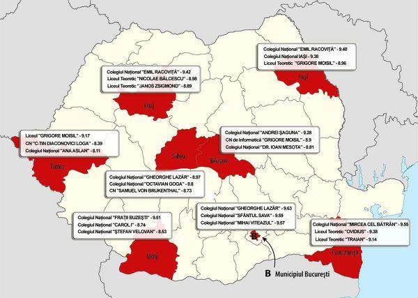 ADMITERE LICEU 2013. Repartizare computerizată pe EDU.RO. Harta celor mai bune licee din Bucureşti şi din fiecare judeţ - Gandul