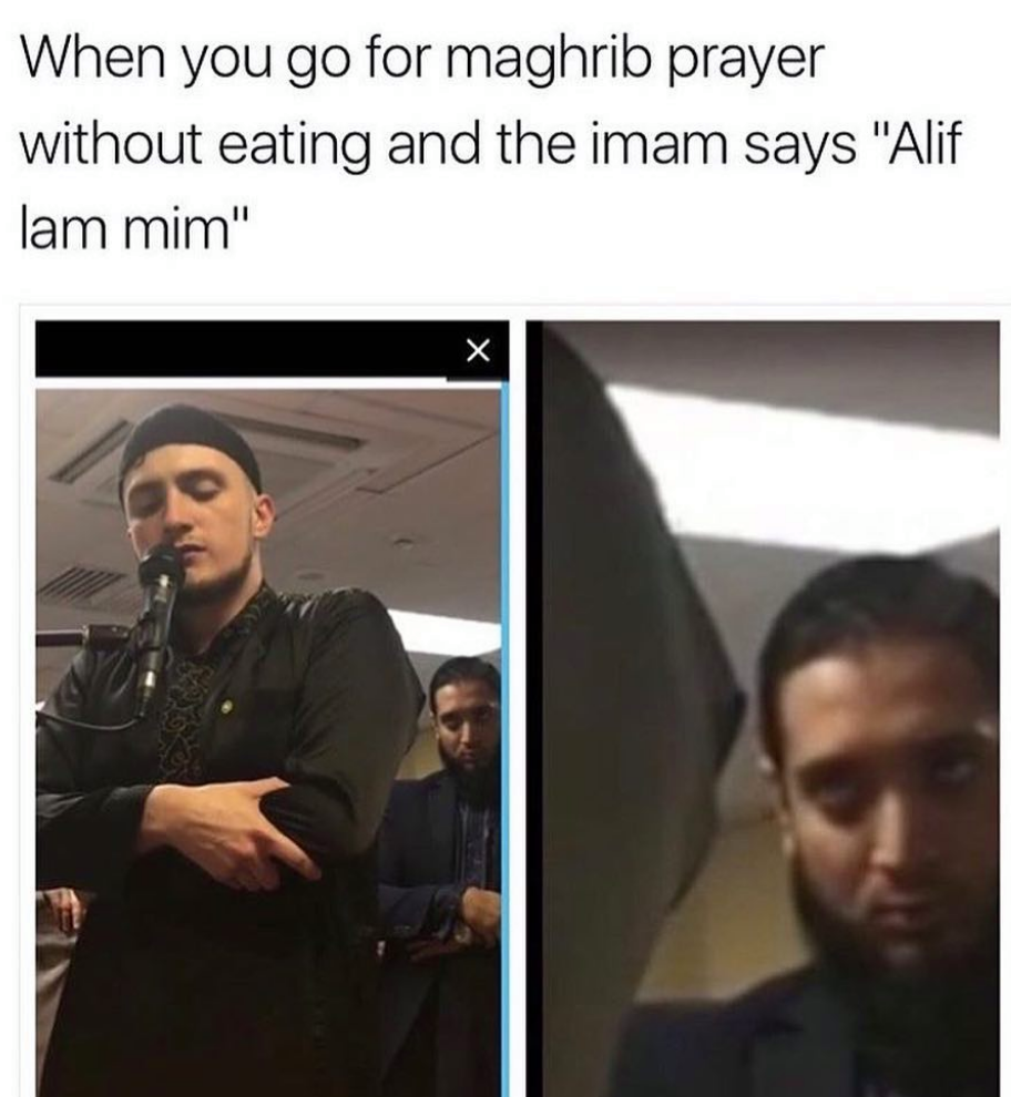 With a little imagination ramadan kareem can sorta rhyme with dank meme