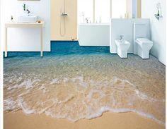 Floor Painting Wallpaper Floor Wallpaper Bathroom Wallpaper Waterproof Floor Murals