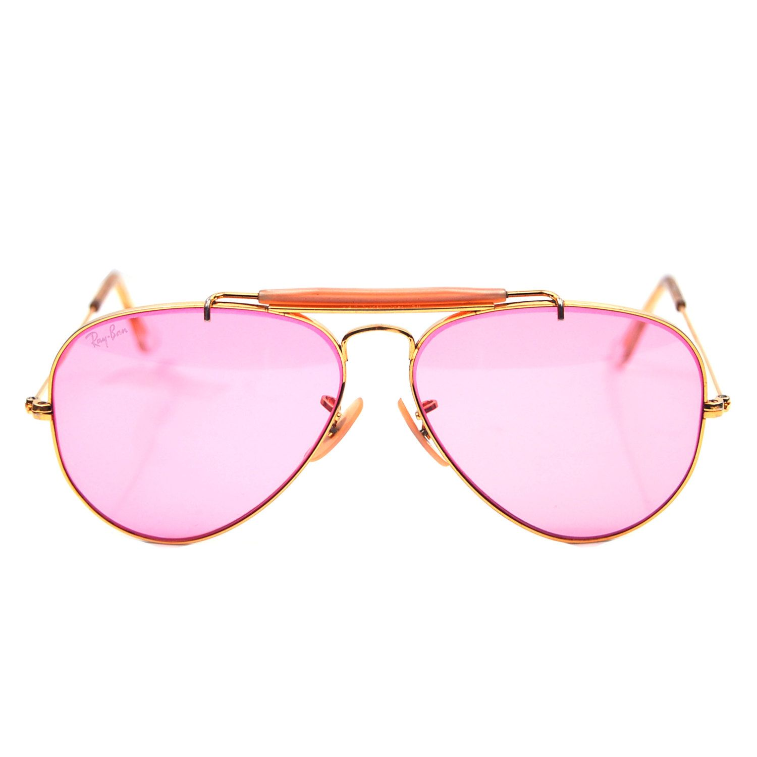 ca91eb648442 Vintage Ray Ban Bausch and Lomb Pink Rose Changeable Sunglasses 58mm.   299.00