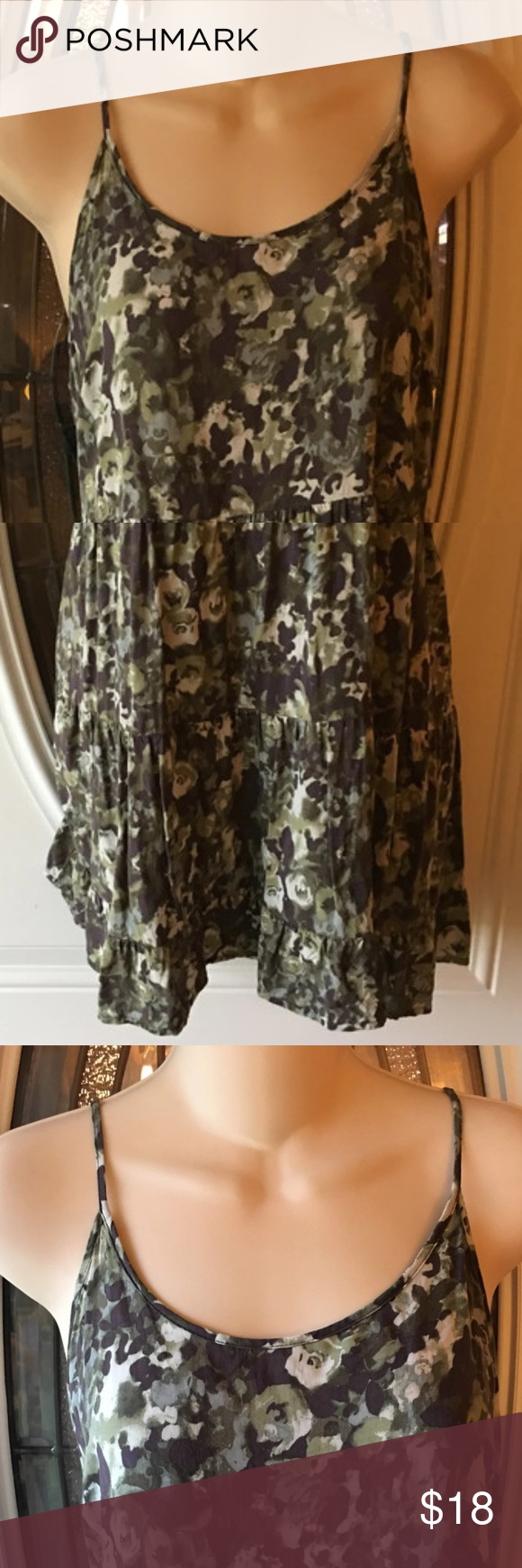 Maurices Green Floral SHORT Sundress Sz Small Maurices Green Floral SHORT Sundress Sz SmallAdjustable Straps Soft 100% rayon Measures 15.5 pit to pit (33 total) Length is 21 measured from center back Very good condition m st Maurices Dresses Mini #shortsundress