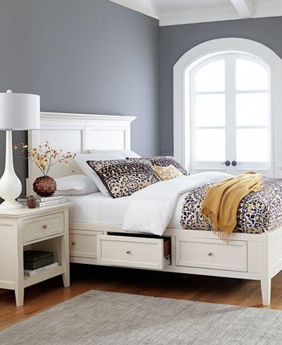 Sanibel Storage Platform Bedroom Furniture 3-Pc. Set (King Platform ...