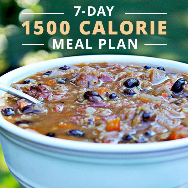 7-Day 1500 Calorie Meal Plan   Weight Loss   1500 calorie