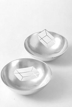 Ane Christensen   Negative Bowls, 2005   sterling silver