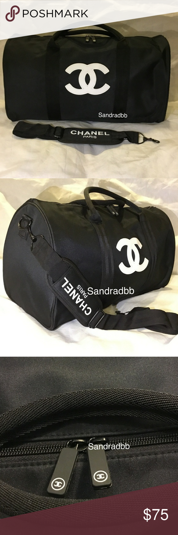 6038bc4dc3ea Authentic Chanel Duffle Travel Gym Weekend Bag VIP CHANEL VIP GIFT TRAVEL  BAG GYM BAG CROSS
