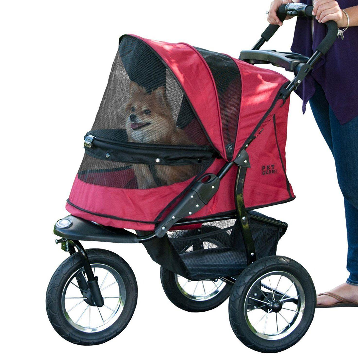 Pet Gear Lightweight Dog Jogging Stroller, Rugged Red