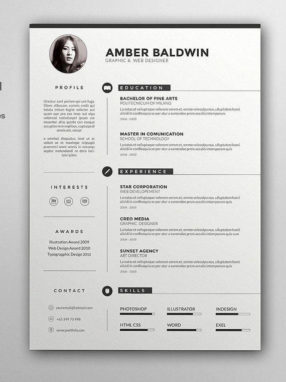 Resume By Resumetools On Etsy Cv Kreatif Desain Cv Desain Resume