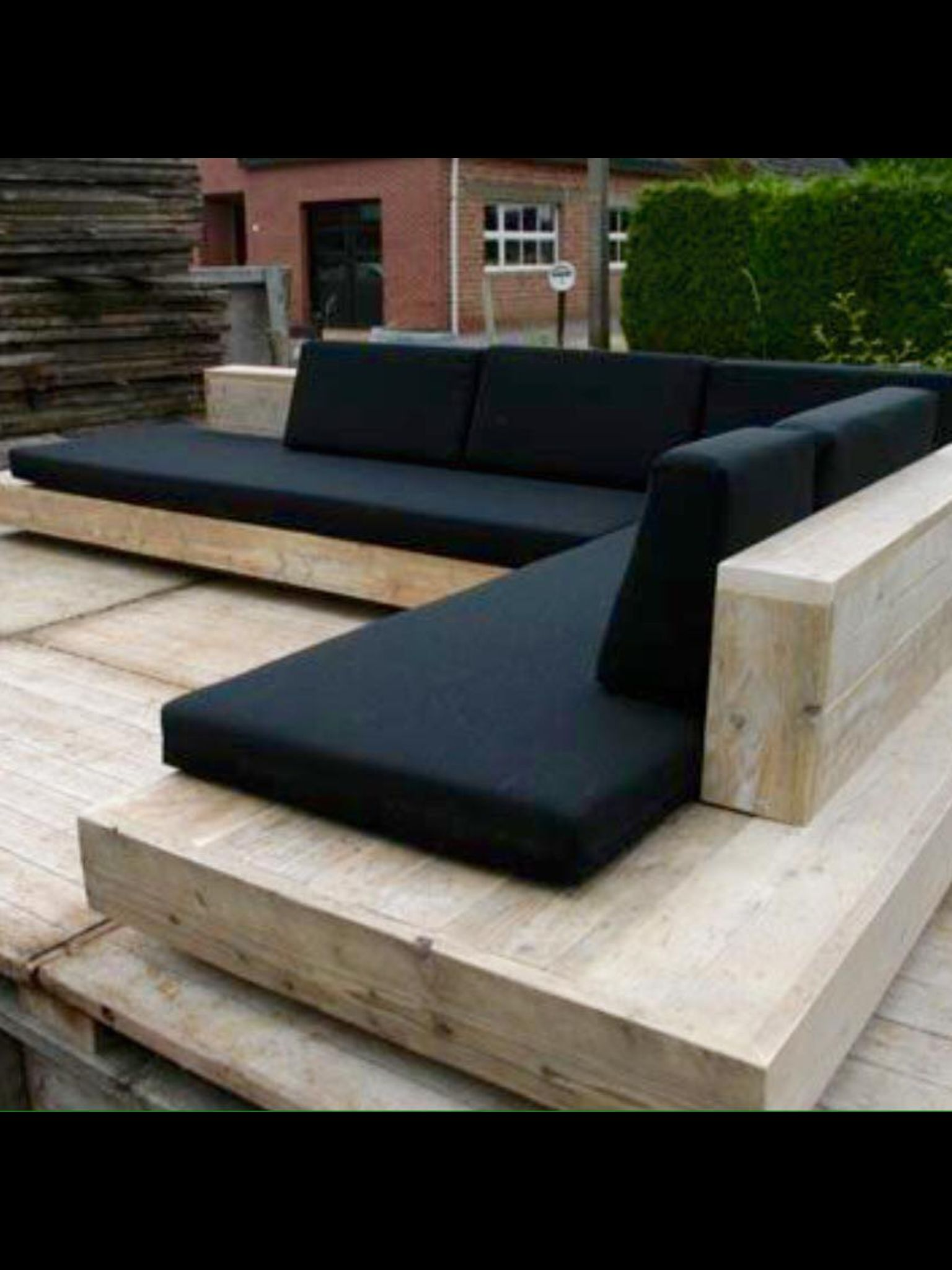 L Shaped Seating Around Fire Pit Outdoor Sectional Sofa Pieces A