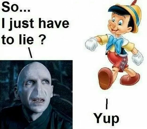 Who Knew He Wanted A Nose So Bad Voldemort Pinocchio Harrypotter Disney Funny Pictures Funny Harry Potter Funny