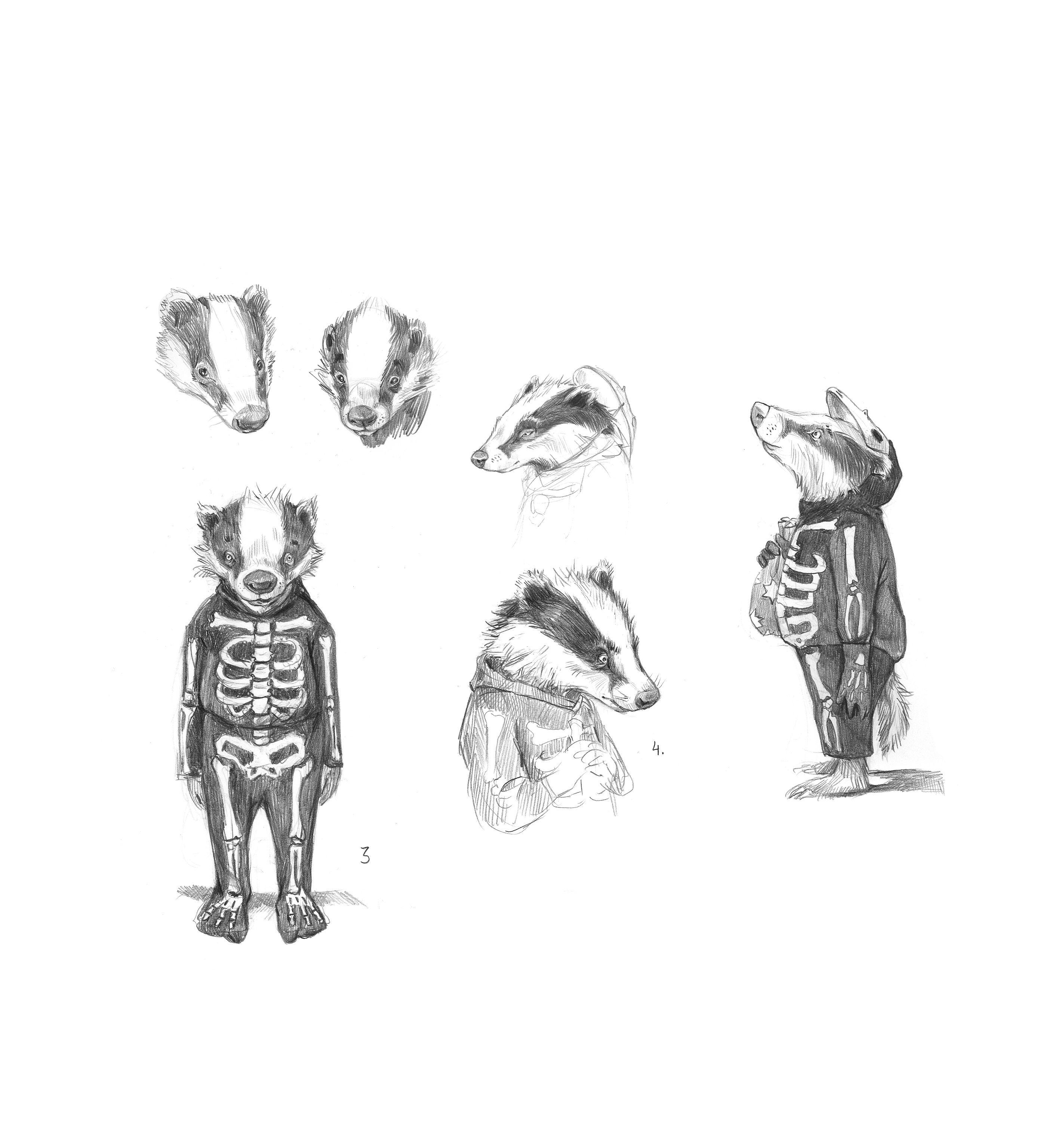 Fantastic Mr Fox Badger Kid In Halloween Costume In