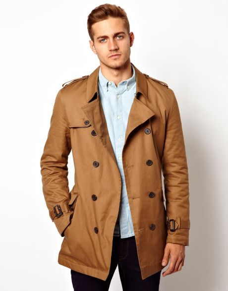 fb4495f8276 Men's Brown Trench Coat With Belt In Tobacco | In The Trenches ...