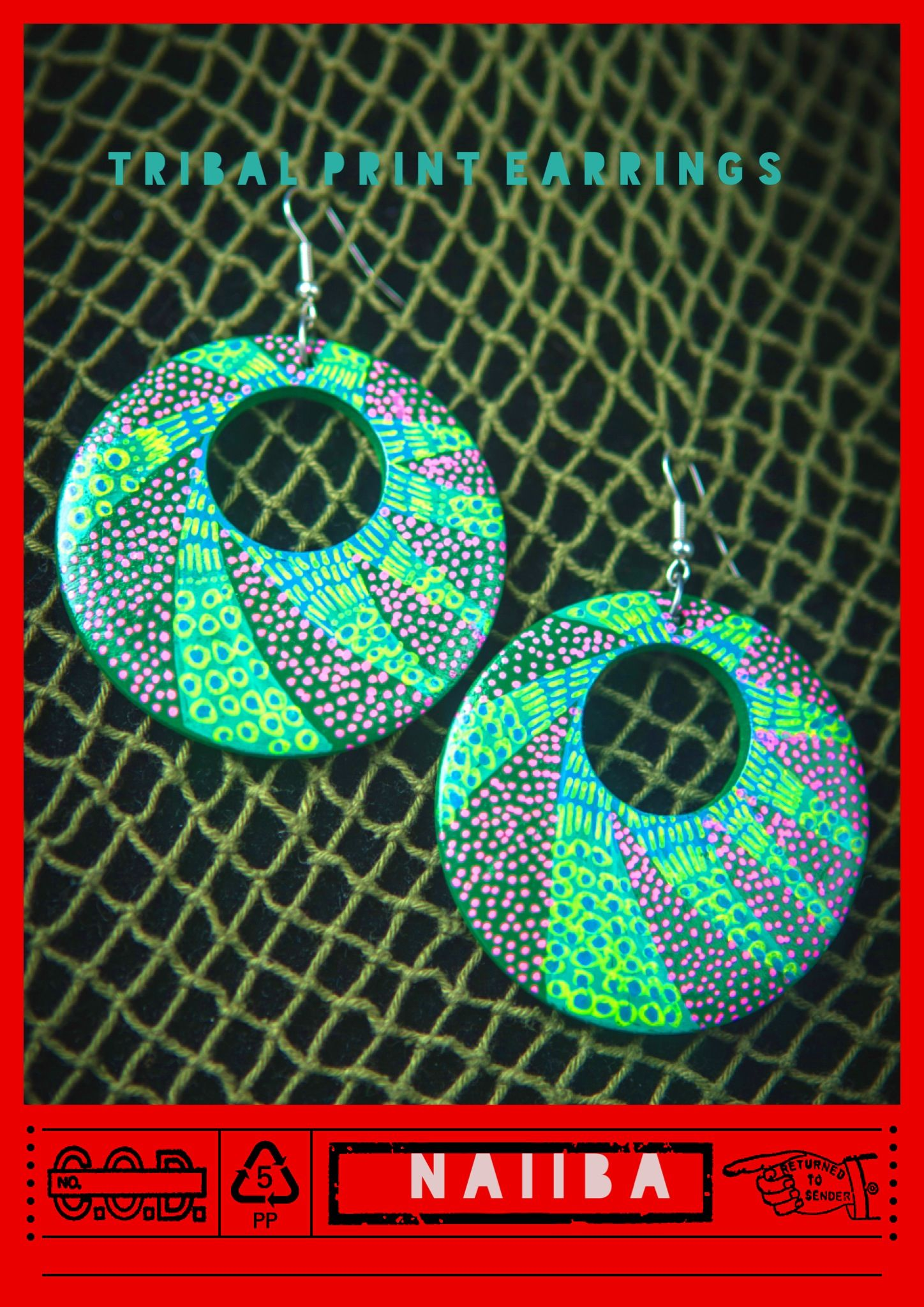 Hand painted wooden earrings I did for summer.