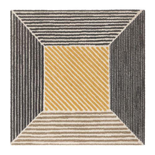 Teppich bunt gestreift ikea  BIRKET Teppich Langflor, gelb, grau | Der fuß, Dichter und Teppiche
