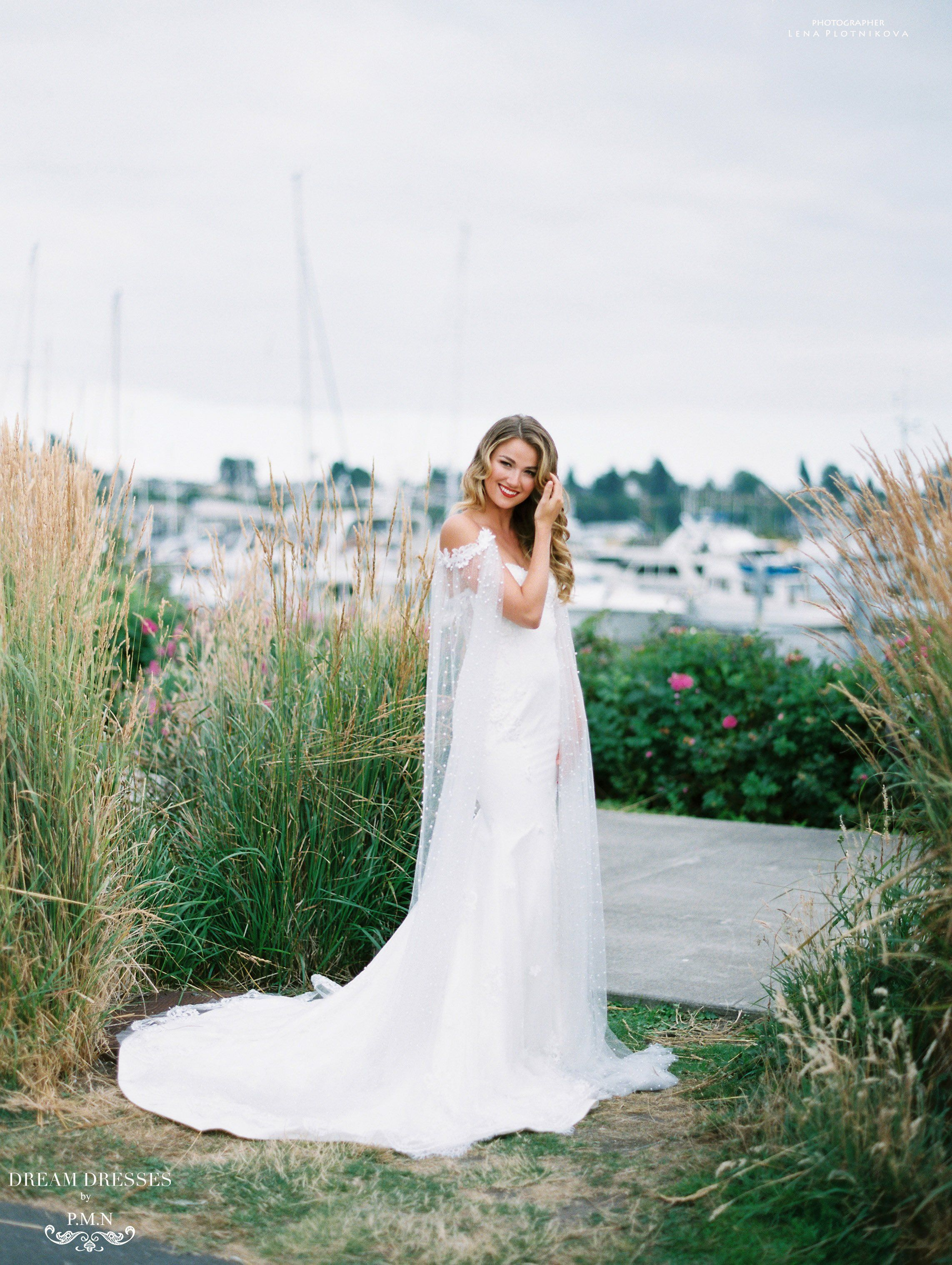 Lace Mermaid Wedding Dress Aceline in   F  Gowns