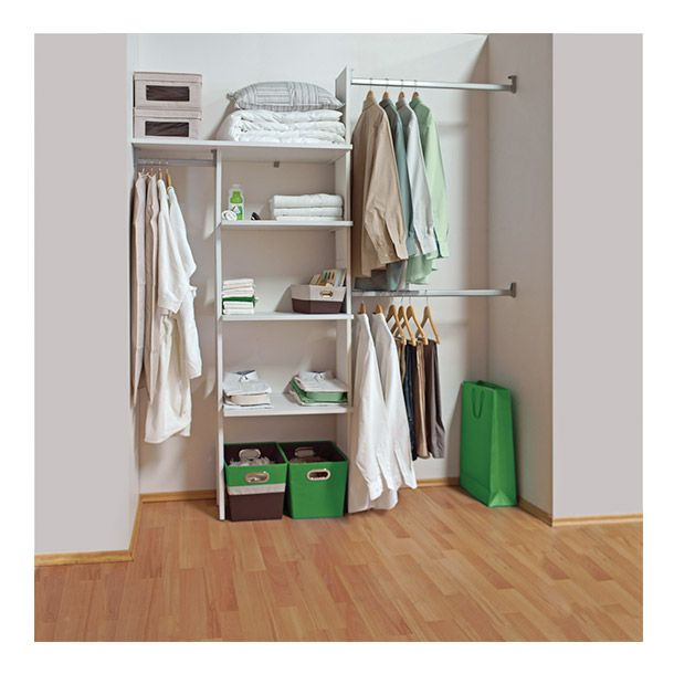 Cl set comfort 181 cm blanco touch walking closet for Closet para espacios pequenos