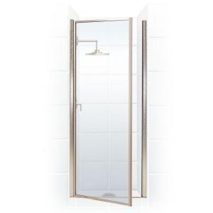 Coastal Shower Doors Legend Series 25 In X 64 In Framed Hinged Shower Door In Platinum With Clear Glass Coastal Shower Doors Shower Doors Framed Shower Door