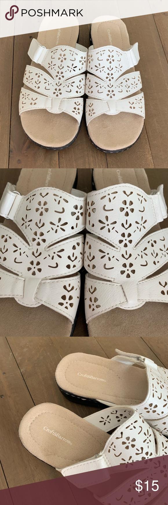 White Croft \u0026 Barrow Sandals with, Size