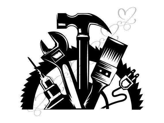 Toolbox Wrench Screwdriver Repair Fix Handyman Hardware Tool Etsy In 2021 Clip Art Svg Handyman Logo