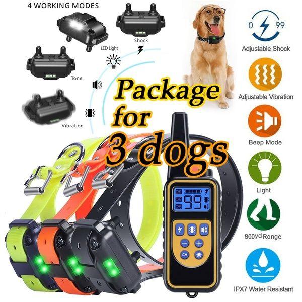 800m Ip6x Waterproof Pet Dog Training Collar Eectric Remote
