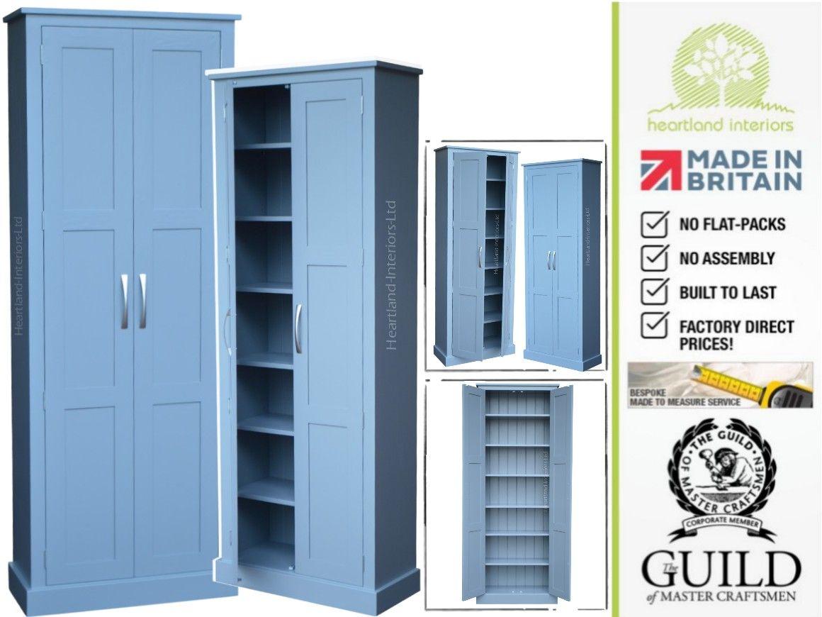 Contemporary Painted, 200cm Tall Multi-Purpose Storage Cupboard ...