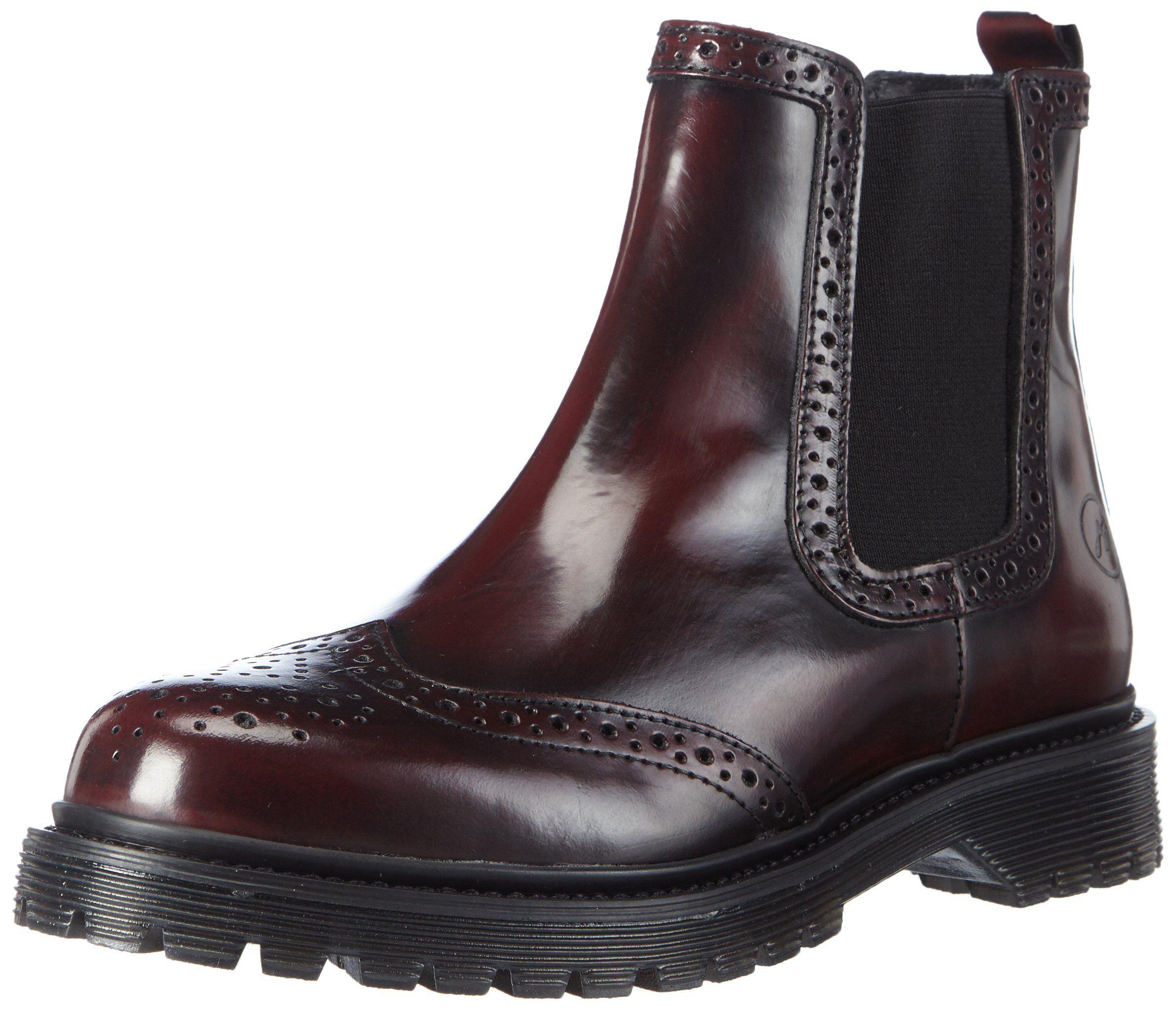 Bronx Brifka-chunkyX, Damen Chelsea Boots, Rot (34 Bordeaux), 41