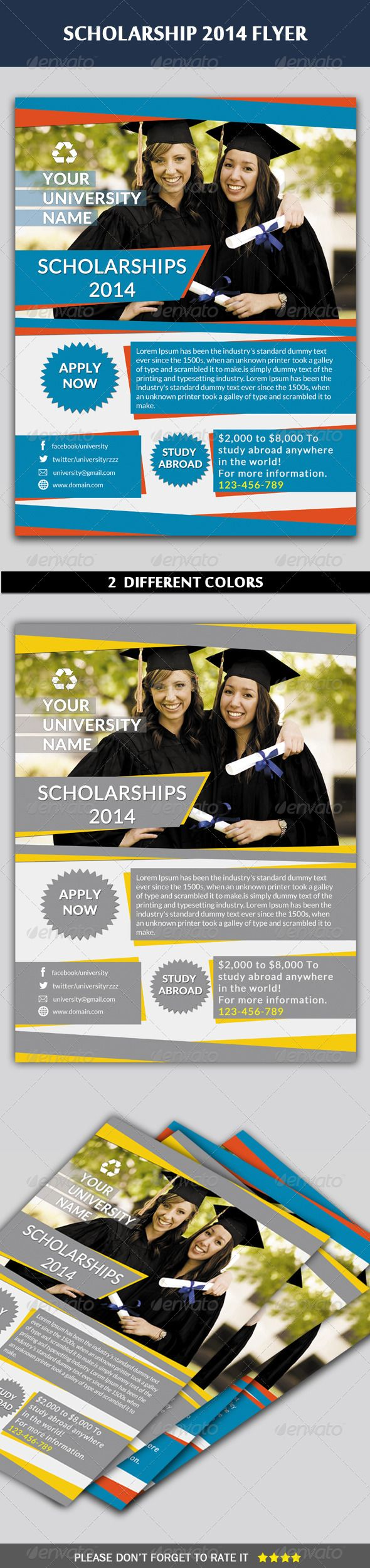 Scholarship Flyer | Scholarships, Flyer design templates ...