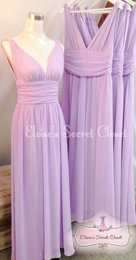 Grecian Lilac Jewel Chiffon Maxi Long Prom Evening