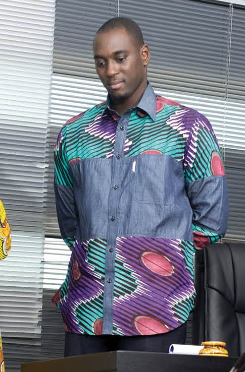 UNIWAX wax shirt mode africaine homme men St Joe
