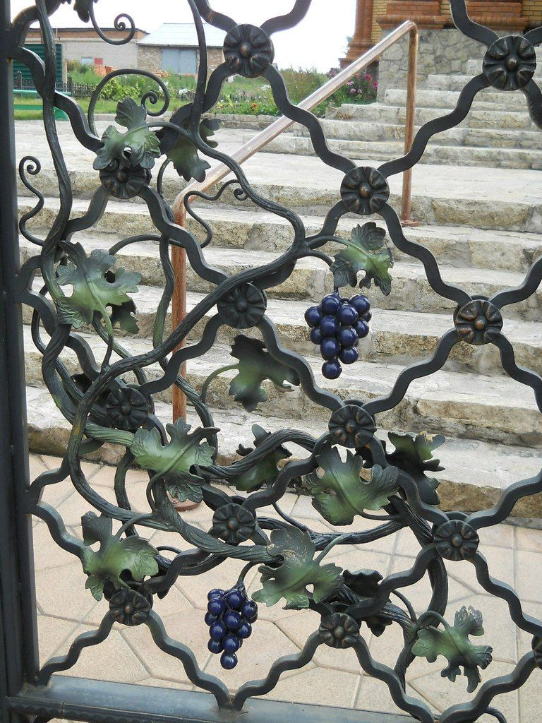 Metal Art Handmade Forged Wrought Grapes And Vine Leaves