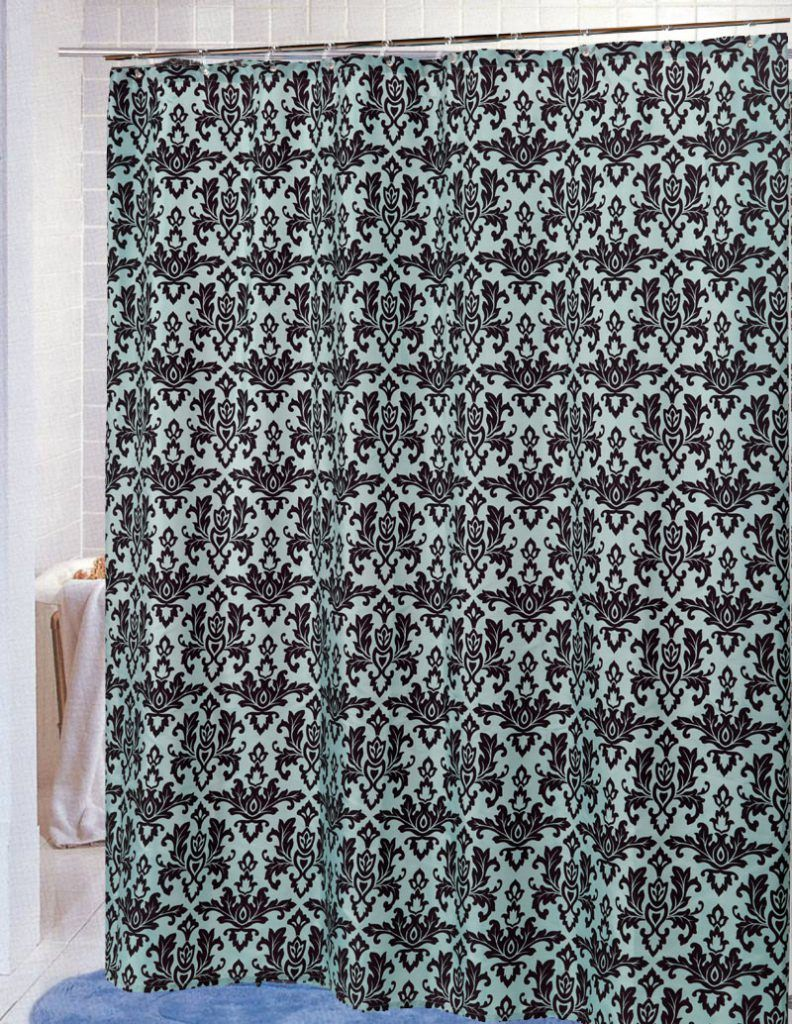 Bathroom:Modern Fabric Shower Curtain With Clear Window Also Fabric Shower  Curtain Liner Suction Cups