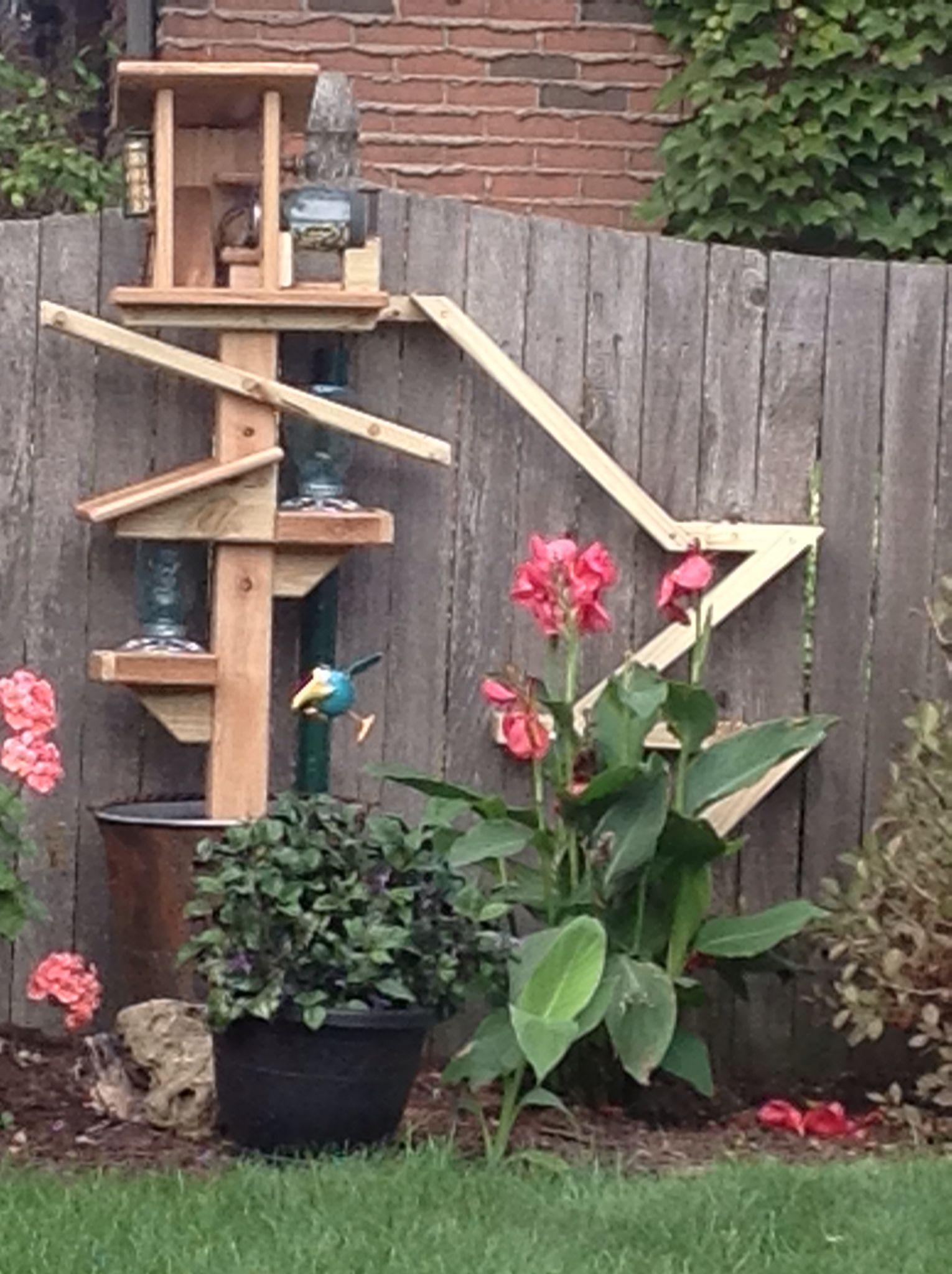 Chipmunk bird feeder backyard diy projects garden